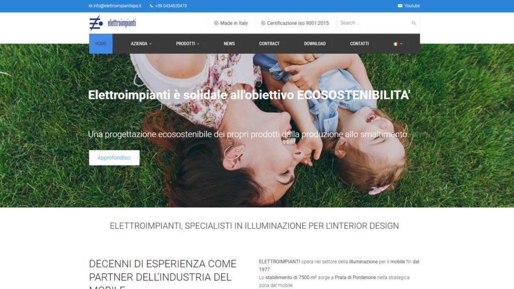 Elettroimpianti specialisti illuminazione creazione sito web andrea volpi